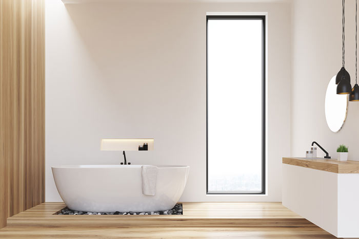 Holzfußboden Im Bad ~ Holzboden im badezimmer u tipps und auswahl wohn journal
