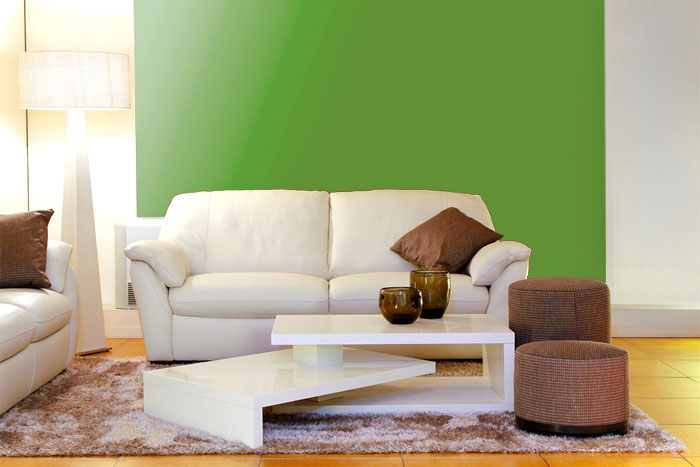 Wandfarbe grün